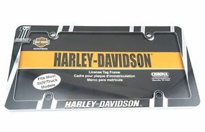 Harley Davidson Motorcycles Dark Chrome Metal Auto Car Tag License Plate Frame