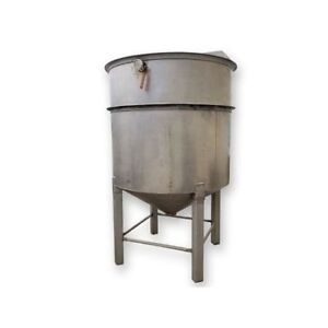Used 700 Gallon Stainless Steel Cone Bottom Tank