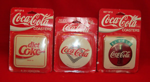 3 New Packages Coca Cola Coasters 18 Coasters