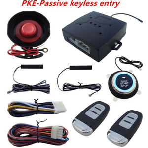 Keyless Entry Car Alarms Systems Push Button Start Easy To Install And Use