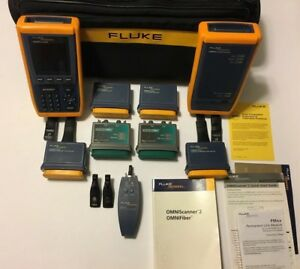 Fluke Networks Omniscanner 2 Cat6 Mm Certifier Tester Cable Analyzer Nfc Kit e