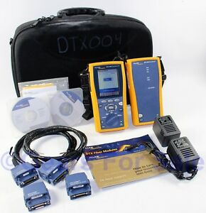 Fluke Dtx 1200 Cat 5 Cat 5e Cat 6 Scanner Remote Cable Analyzer Kit