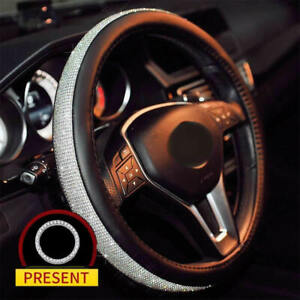 Cystal Steering Wheel Cover With Pu Leather Bling Bling Rhinestones