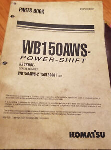 Komatsu Wb150aws 2 Power shift Backhoe Parts Book