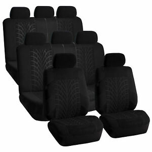 Black Travel Master 3 Row Suv Seat Covers Fit 2 Bucket 2 Bench Seats