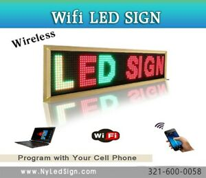 Led Wireless Programmable Scrolling Sign 15 X 40 Tri Color