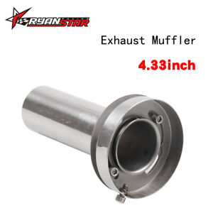 4 5 Exhaust Muffler Silencer Round Tip Adjustable Removable Universal