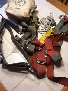 Vintage Rose Mfg Co Safety Harness Buckingham Belt canvas Pouch Extras