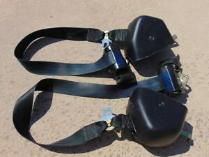 94 95 Ford Mustang Convertible Black Front Seat Belts 1 1 8 Latch Both Tested