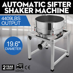 Automatic Sifter Shaker Machine Vibration Motor Efficiency Stainless Steel