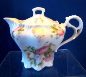 Victorian Porcelain Syrup Pitcher With Lid