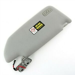 Volvo Oem Gray Left Cloth Sun Visor W homelink For S60 05 09 V70 Xc70 05 07