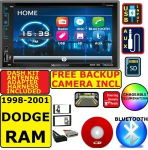 98 99 00 01 Dodge Ram Siriusxm Cd dvd Usb Aux Bluetooth Usb Car Radio Stereo