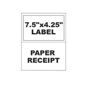 500 Paypal Ebay Clicknship Shipping Labels W Tear Off Paper Receipt