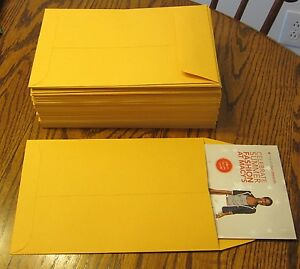 20 Kraft Catalog Envelopes 6 1 2 X 9 1 2 Mailers With Gummed Flap 6 5 By 9 5