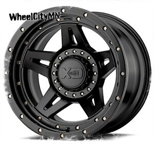 17 X9 Xd138 Brute Satin Black Wheels Lifted Ford F250 F350 Excursion 8x170 12