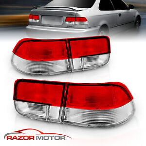 For 1996 1997 1998 1999 2000 Honda Civic 2dr Coupe Factory Style Tail Lights Set
