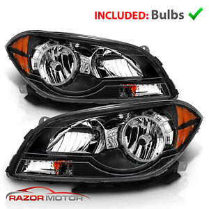 For 2008 2009 2010 2011 2012 Chevy Malibu Headlights Headlamps Left Right 08 12
