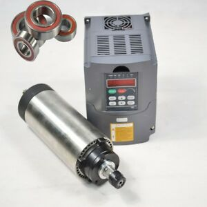 1 5kw Air cooled Spindle Motor 80mm Er16 Cnc 220v Inverter Drive Vfd
