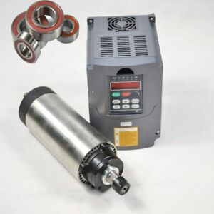 Air 2 2kw Cooled Er20 Spindle 80mm Motor 4 Bearing 2 2 Vfdinverter Drive Cnc