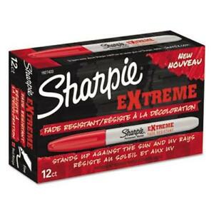 Sharpie 1927433 Extreme Fine Point Marker Red 12 Markers san1927433