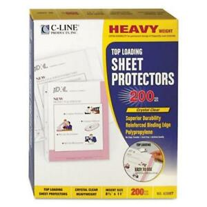 C line Polypropylene Sheet Protector Clear 11 X 8 1 2 200 box cli62097