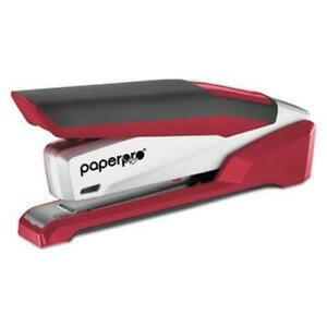 Paperpro Prodigy Spring Powered Stapler 25 sheet Capacity Red silver aci1117