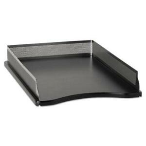 Rolodex Distinctions Self stacking Desk Tray Metal black role22615