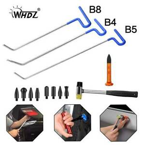 3x Paintless Dent Removal Push Rod B Tools Paintless Repair Tap Hammer 9 Heads
