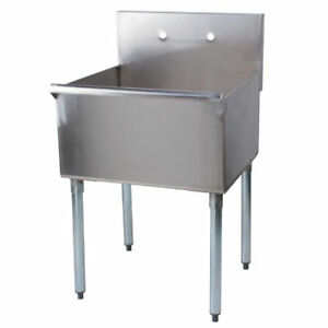 24 X24 X 14 Stainless Steel Commercial Utility Sink Prep Hand Wash Laundry Tub