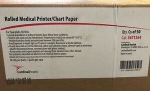 Cardinal Health 3671264 Rolled Medical Printer chart Paper 50 Case Exp 1 07 2023