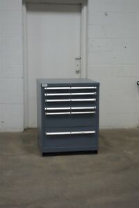Used Lista 6 Drawer Cabinet 36 Tall Industrial Tool Bench Storage 1627 Vidmar