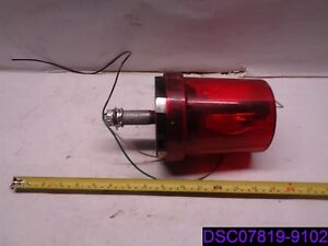 Federal Signal Vitalite Red Beacon Light 121s Ser C 120 Volt