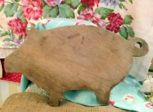 Primitive Antique Wood Pig Cutting Board Probable Hand Made