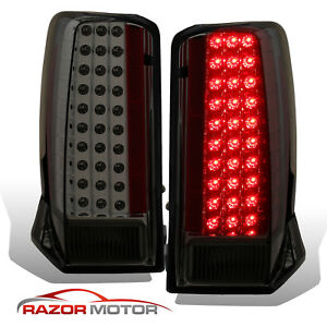 2002 2003 2004 2005 2006 Led Smoke Brake Tail Lights Pair For Cadillac Escalade