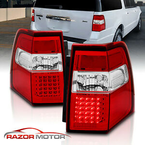2007 2016 Led Red Brake Back Tail Lights Replacement Pair For Ford Expedition