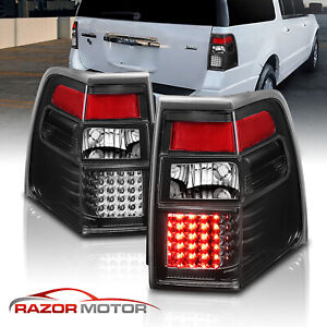 2007 2017 Led Black Brake Back Tail Lights Replacement Pair For Ford Expedition