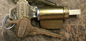 Schlage Everest Key in knob Cylinders Satin Chrome New C123