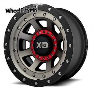 20 X12 Satin Black Dt Xd137 Fmj Wheels Fits Ford F250 F250 Excursion 8x170 44