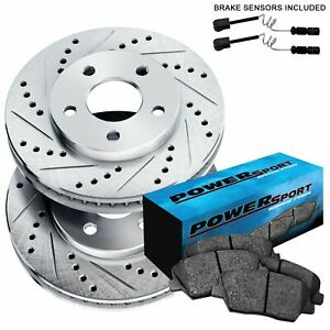 Rear Cross drilled Slotted Brake Rotors And Ceramic Brake Pads Blcr 35067 02