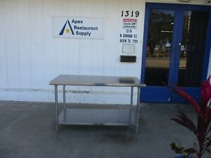 All Stainless Steel 60 X 30 Work Table prep Table W shelf 3904