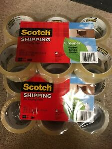 Scotch Greener Commercial Grade Shipping Packing Tape 12 Rolls