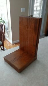 New Solid Oak Wood Base 4 Vintage Westinghouse Duncan Electric Meter Lamp Light