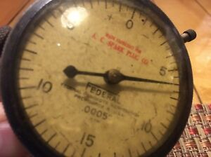 Antique Ac Spark Plug Company Federal Indicator Gauge Steampunk Industrial Is221