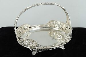C1885 American Victorian Antique Pairpoint Silver Plated Basket Bowl Server