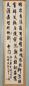 Long Chinese Hand Writing Calligraphy Character Wangduo Old Scroll Painting Yy16