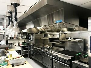 9 Commercial Kitchen Wall Canopy Hood Exhaust Fan And Supply Fan Package
