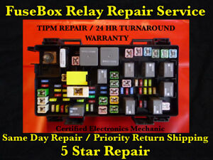 2011 2012 Dodge Ram 1500 2500 3500 Tipm Fuse Box Repair Service