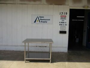 All Stainless Steel 48 X 30 Work Table prep Table W shelf 3906