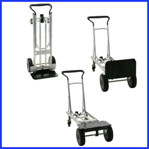 Cosco 3 in 1 Folding Series Hand Truck Cart Platform Cart Flat free Wheel